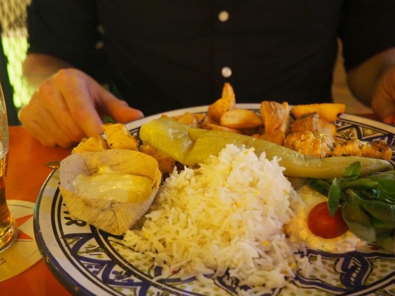 turkish-food at bazar a rotterdam restaurant