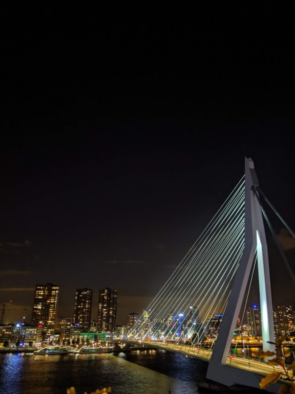 view from nhow bar in rotterdam